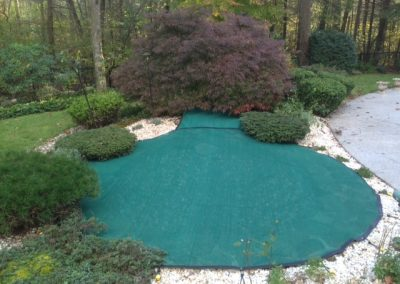 Custom Green Leaf Net With Waterfall Cover